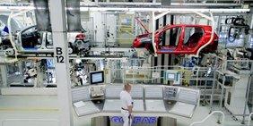 Produktion von Golf bei VW