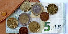 8,84 Euro in Scheinen und Münzen